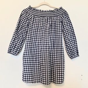 Abercrombie & Fitch Off the Shoulder Gingham Dress